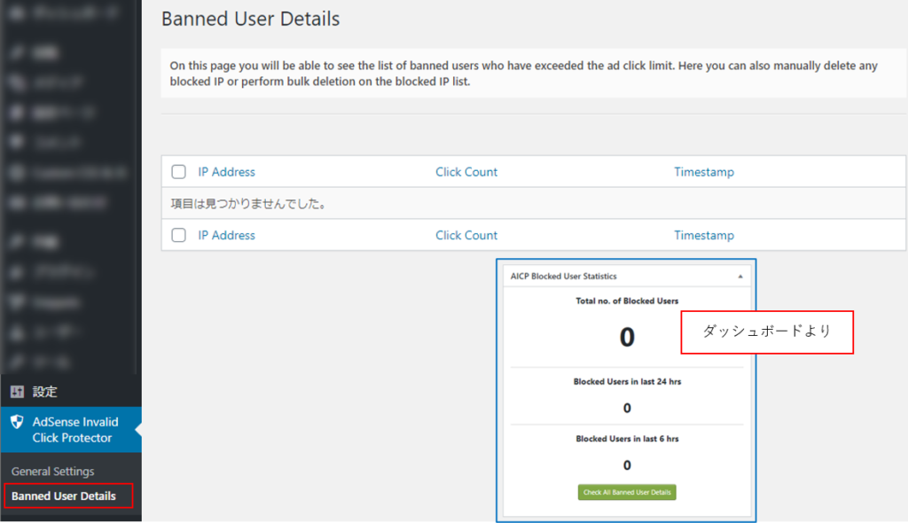 AdSense Invalid Click Protector - Banned User Details