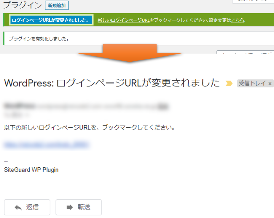 SiteGuard WP Plugin - ログインページURLの変更